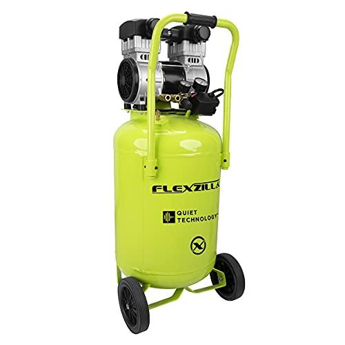 Flexzilla Portable Air Compressor with Quiet Technology, 2 HP, 20 Gallon, Industrial Grade Pump