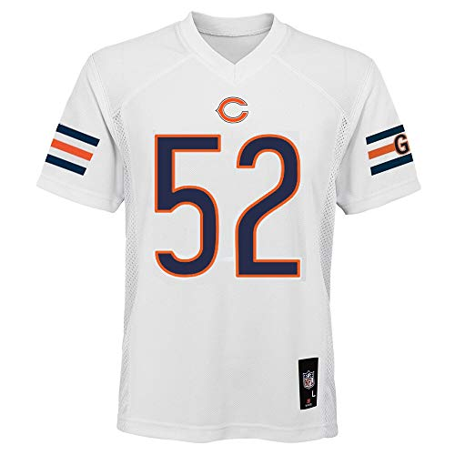Khalil Mack Chicago Bears NFL Youth 8-20 White Road Mid-Tier Jersey (Youth Medium 10-12)