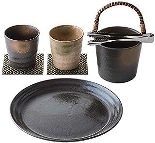 釉変り 焼酎宴揃 日本酒 焼酎グラス セット 和食器 箱入り