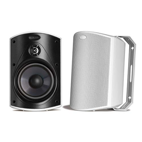 Polk Audio Atrium 5 Outdoor Speakers with Powerful Bass (Pair, White), All-Weather Durability, Broad...