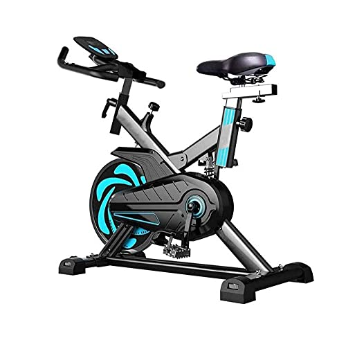 SMSOM Exercise Bike, Indoor Stationary Bikes for Home Workout, Cardio Workout Bike, Quiet Belt Drive with LCD Monitor, Support up to 440 lbs, Very Suitable for Fitness Men and Women