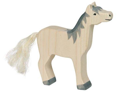 Holztiger Pferd, Kopf hoch, graue M�hne, 80360