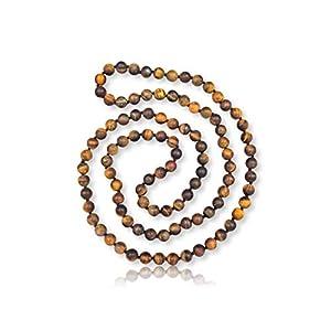 Matte Finnish Botswana Beaded Necklace