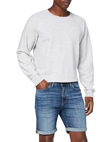 SELECTED HOMME Herren Slhalex 329 Mblue Su-st Dnm W Noos Shorts, Medium Blue Denim, L EU