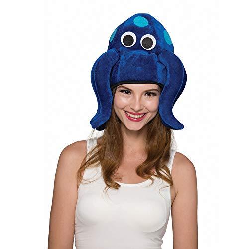 YT Electric Erwachsene Oktopus Tintenfisch Krake blau Hut Mütze Tierhut Tiermütze Kopfbedeckung Weihnachten Kostüm Halloween Party