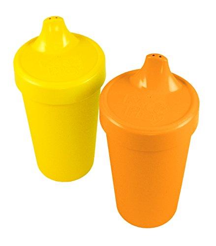 Re-Play Kinder Trinklernbecher, 2er Set, Auslaufsicher | BPA-frei | nachhaltig durch Recyclingmaterial (Spring)