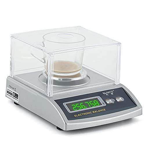 CGOLDENWALL 0.1g/0.01g/0.001g Balanza Analítica de Laboratorio Electrónica Báscula de Alta Precisión Comercial Escala Preciosa Ideal para Lab Cocina Joyería Ya Calibrado (300g, 0.001g con Para