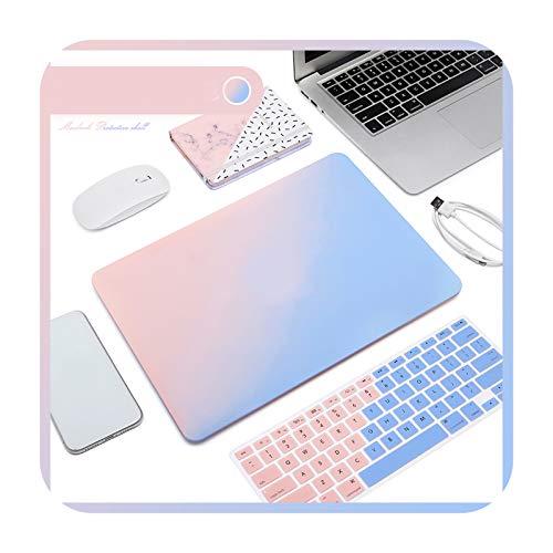 Matte Frosted Laptop Case + Laptop Keyboard Film for MacBook Air 13 2020 Retina Pro 13 15 A2159 MacBook Pro 16 A2141-C-Retina12 A1534 A1931