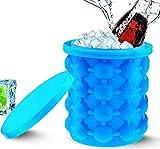 HXR 2 in 1 Große Silikon-EIS-Eimer tragbarer Eiswürfelhersteller-Mold-Eimer mit Deckel-Werkzeugen for Küchenparty Barware-Champagner-Speicherung Eiseimer