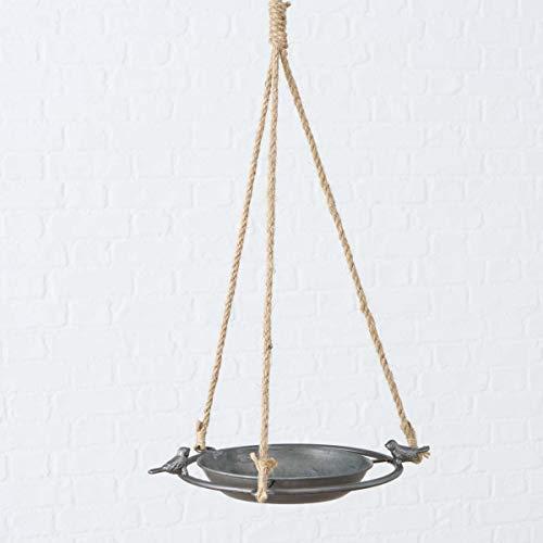 Boltze Vogeltränke Jackson D25cm grau Zink Hänger 56 cm Vogelbad