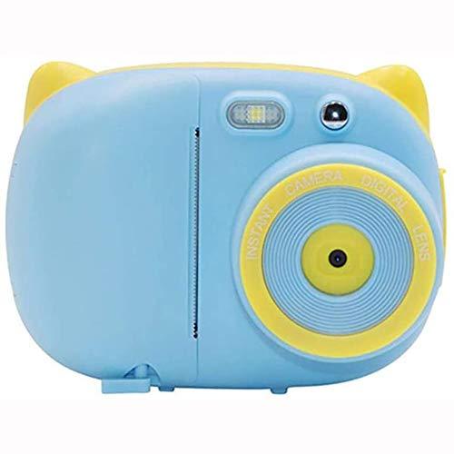 Cámara Digital Para Niños, Cámara Instantánea De Impresión De Fotos, Cámara Digital Pequeña SLR, Grabadora De Vídeo, Pantalla IPS De 2,4 Pulgadas, 32G RAM, Apto Para Niños, Niñas Y Niños, Azul