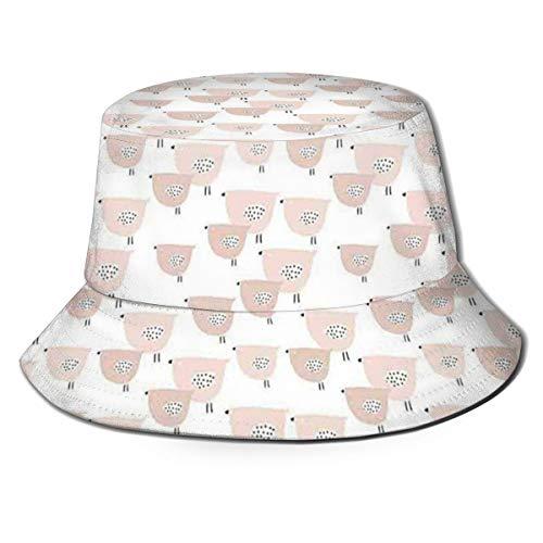 Unisex Summer Fisherman Cap,Chubby Birds Animals Funny Cheerful Soft Toned Baby Shower Nursery Kids Concept,Travel Beach Outdoor Sun Hat