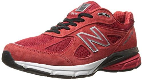 New Balance M990v4, Zapatillas Deportivas. Hombre, Alpha Rojo y Negro, 40 EU
