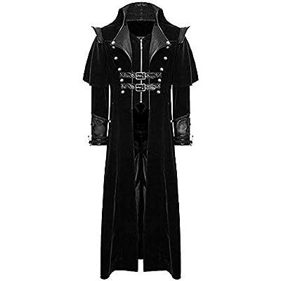 Rera Mens Steampunk Vintage Tailcoat Jacket Gothic Victorian Coat Halloween Uniform Costume