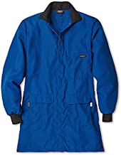 Workrite Uniform 353CH45RBMD 0R Flame-Resistant/Chemical Protection Lab Coat, Medium Size, 4.5 oz. Nomex IIIA Fabric, Royal Blue