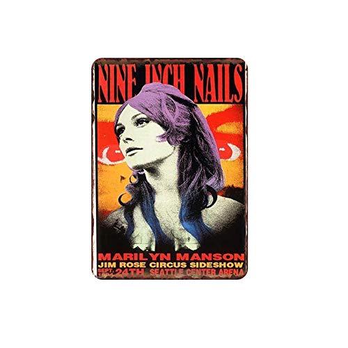 Cartel de chapa de metal Celebrity Singer Retro Metal Tin Bar Pub Café Cine Decoración de cine Pared Músico Pintura de hojalata TW350
