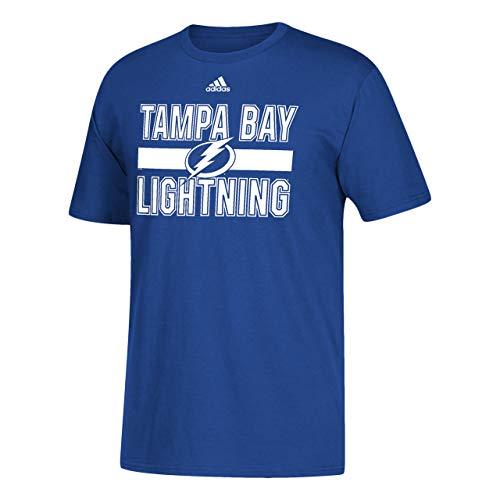 adidas Erwachsene NHL Game Day Short Sleeve T-Shirt – Multiple Teams, Herren, Tampa Bay Lightning - Royal, Medium