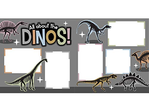 'All About The Dinos!' Scrapbook Page Kit