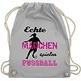 Shirtracer Fussball EM 2021 Fanartikel - Echte Mädchen spielen Fußball - Schwarz - Unisize -...