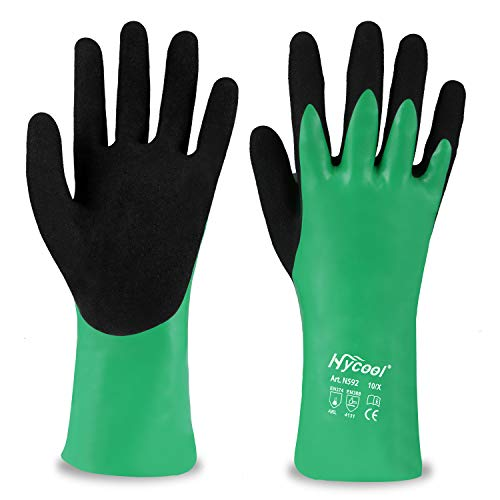 DS Safety Nitrile Coating Chemical Resistant Gloves 1 Pair (M)