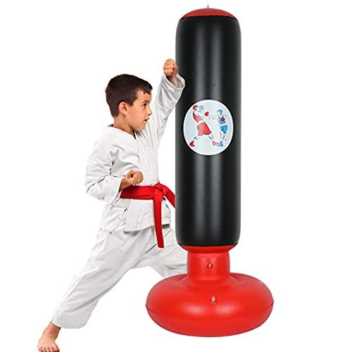 Bluelounge Aufblasbarer Boxsack Für Kinder,160CM boxsack stehend Kinder für Erwachsene Jugenbdliche, freistehender Boxspielzeug für Jugendliche Erwachsene Indoor Outdoor mit Fußluftpumpe