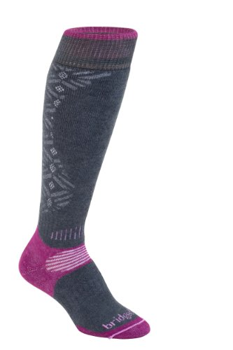 Bridgedale Chaussettes de Ski pour Femme Gunmetal/Berry Size 3-4.5