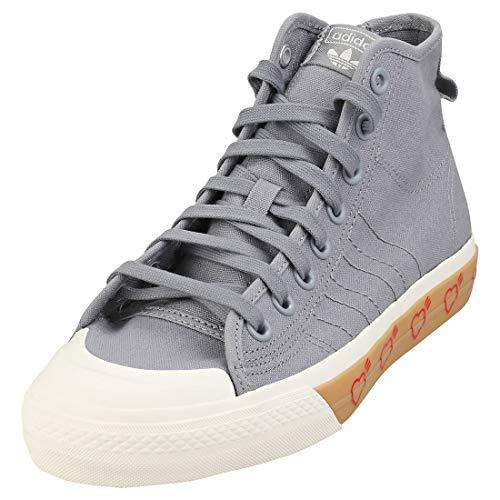 adidas Nizza Hi Hm Hombres Zapatillas Moda Grey White - 40 2/3 EU