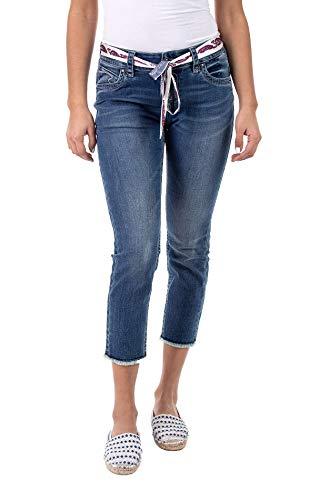 Blue Monkey Damen Jeans Charlotte 30176 Bindegürtel