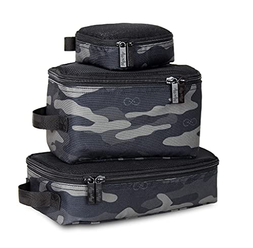 Chelsea + Cole For Itzy Ritzy Packing Cubes – Set of 3 Camo Packing Cubes or Travel Organizers; Each Cube Features a Mesh Top, Double...