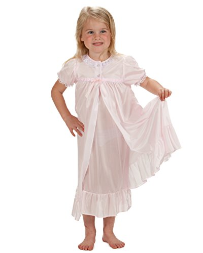 Laura Dare Big Girls Pink Short Sleeve Traditional Peignoir Set, 8