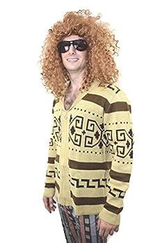 Big Lebowski Style The Dude Cowichan Sweater Cardigan  L