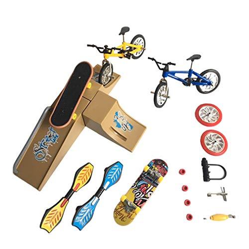 CandyTT Escena de monopatín de simulación Modelo de Bicicleta Juguetes yemas de los Dedos Juego de Coches de Juguete Bicicleta Scooters Plegables Vitality Board Scooters (CDH-4B)