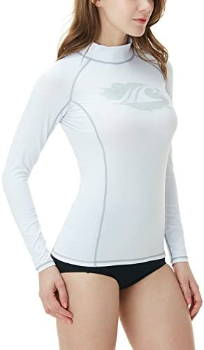 TSLA Women s UPF 50 Rash Guard Long Sleeve Water Beach Surf Swim Shirts UV Sun Protection Swimwear product image