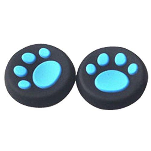 FeiliandaJJ 1 Paar Controller Cap Set Katzentatze Silikon des Controllers aufsätze Für PS 3/4 Xbox ONE (Blau)