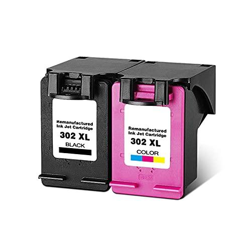 YXYX Compatible con HP302 Cartucho de tóner de repuesto para HP Deskjet 1110 111 1112 2130 2132 3630 3632 Cartucho de tinta para impresora BK, C, Y, M, True Bild Suit