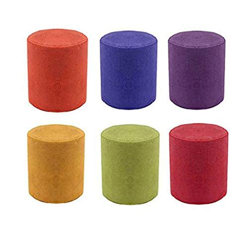 Gusspower Colores Pastel de Humo Fotografía Colorido Efecto de Humo Show Tipo de Anillo de Tiro Tubo de Humo Colorido Película de Humo Fondo Fotografía Ayuda Prop (Multicolor-6PCS)