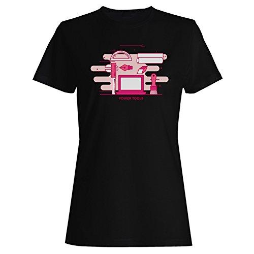 Herramientas Eléctricas De Internet En Línea Camiseta de Las Mujeres p531f