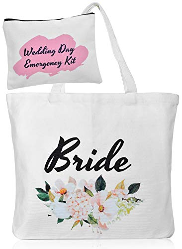 Bride Tote Purse Makeup Bag Cosmetic Pouch Bridal Shower gift Wedding Day Emergency Kit Survival