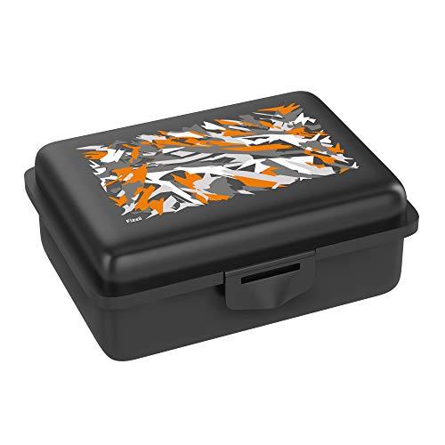 Fizzii Lunchbox (Inkl. Obst-/ Gemüsefach, schadstofffrei, spülmaschinenfest, Motiv: Graffiti)