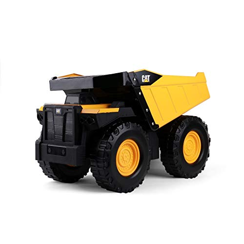 Cat Construction Mighty Steel Dump Truck Toy, Yellow