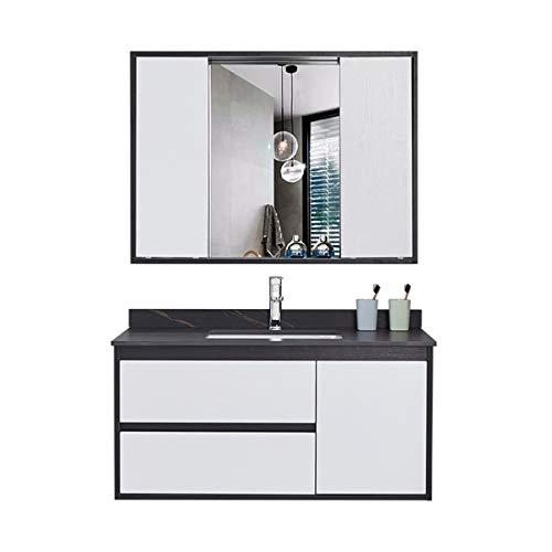 ZoSiP Mueble Lavabo y Mueble Espejo Gabinete de baño de Tablero de...
