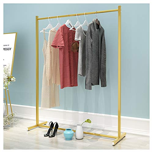 KELUNIS 47' L Metal Clothes Garment Rack, Freestanding Coat Hat Rack with Adjustable Non-Rolling Feet, Display Rack for Hanging Clothes Boutique Store