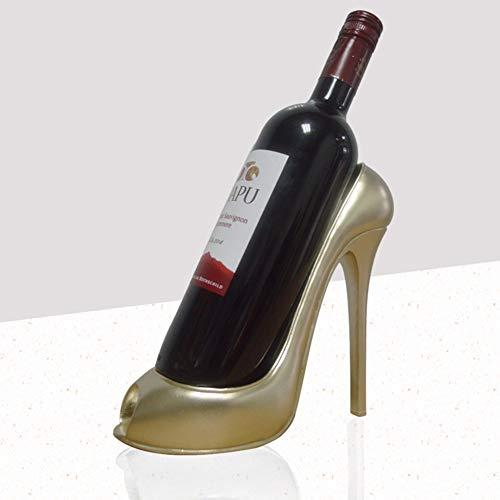 LYAID Stilvolle hemmungslose High Heel Schuhform Weinregal, stilvolle Weinflaschenhalter Zubehör für Wohnkultur, Ornament Geschenk,C