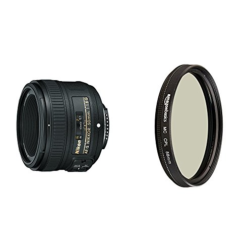 Nikon AF-S FX NIKKOR 50mm f/1.8G Lens with Auto Focus and Circular Polarizer Filter - 58 mm