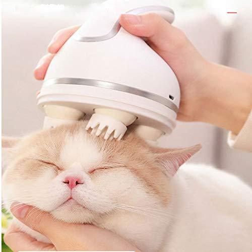QNMM Mode Katze Massagegerät, Kopfhaut Massagegerät, USB-Lade 3D Kopfhaut Scrubber omnidirektionale automatische drehen waschbar Massagegerät