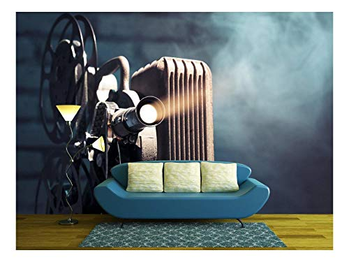 wall26 - Photo of an Old Movie Projector - Removable Wall Mural | Self-Adhesive Large Wallpaper - 66x96 inches