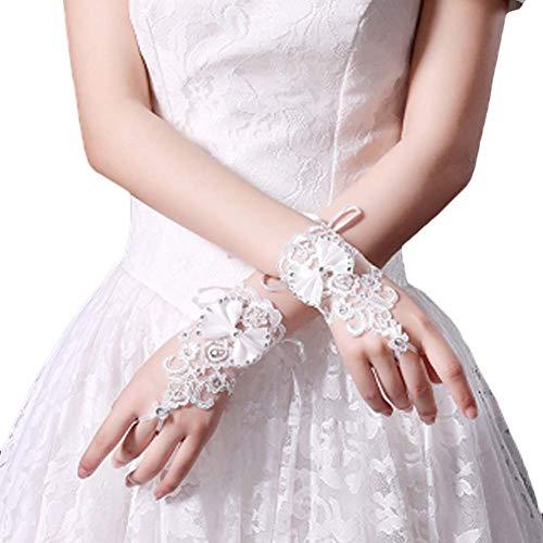 Gants de mariée mariage robes de soirée dentelle gants courts B13