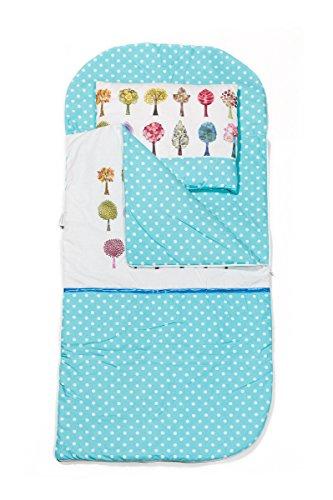 KempKids Sango Trade Set di Sacco a Pelo + Cuscino per Bambini in età Prescolare Stuoia del Nap Sacchetto di Sonno Taglie: Sacco a Pelo 115 x 70cm Guanciale 35 x 70 cm Alberi