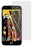 atFolix Panzerfolie kompatibel mit LG X Power2 Schutzfolie, entspiegelnde & stoßdämpfende FX Folie (3X)