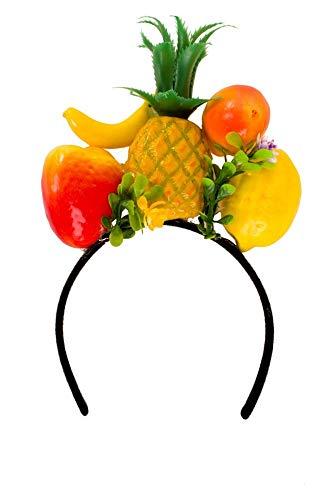 shoperama Haarreif mit Früchten Brazil Obst Kopfbügel exotisch Samba Miranda Karneval in Rio Kostüm-Zubehör